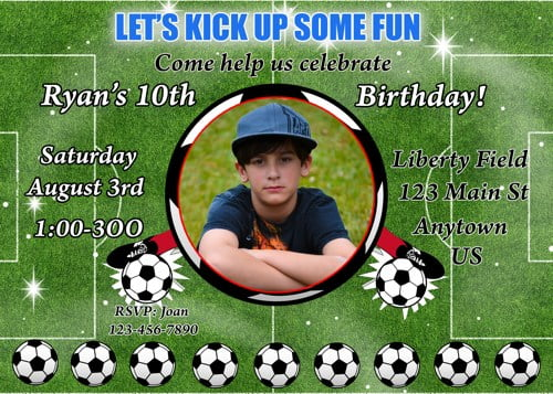 soccer birthday invitations boys