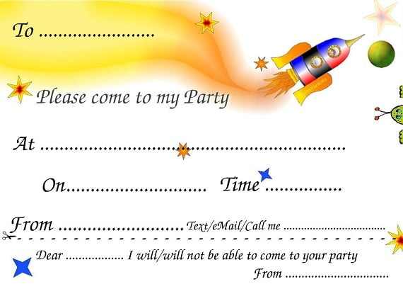 free printable boys birthday invitations