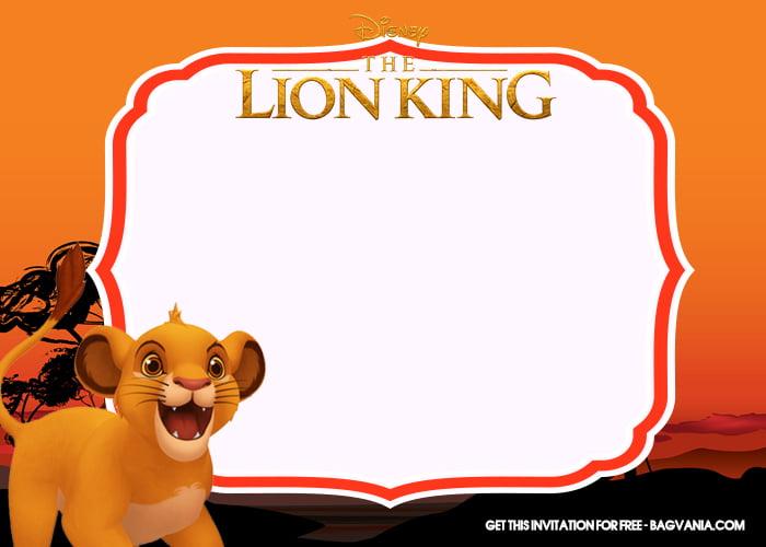 Free Printable Lion King Birthday Invitation Templates With Cute Baby Simba